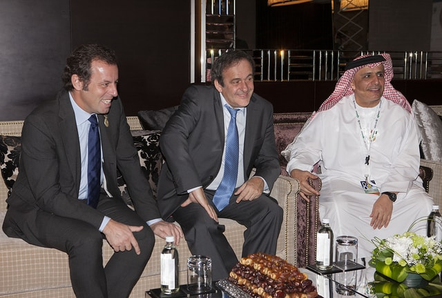 Dubai International Sports Conference – Sandro Rosell, Michel Platini and Mattar Al Tayer