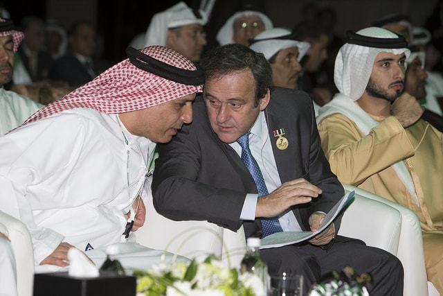 Dubai International Sports conference _ Sheikh Al Maktoum, Michel Platini and Mattar Al Tayer